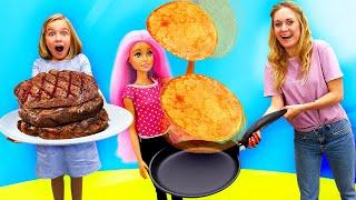 Новые видео куклы - Что приготовила Барби для Кена? – Весёлые игры готовить с Плей До