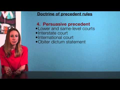 VCE Legal Studies - Doctrine of precedent