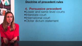 VCE Legal Studies - Doctrine of precedent