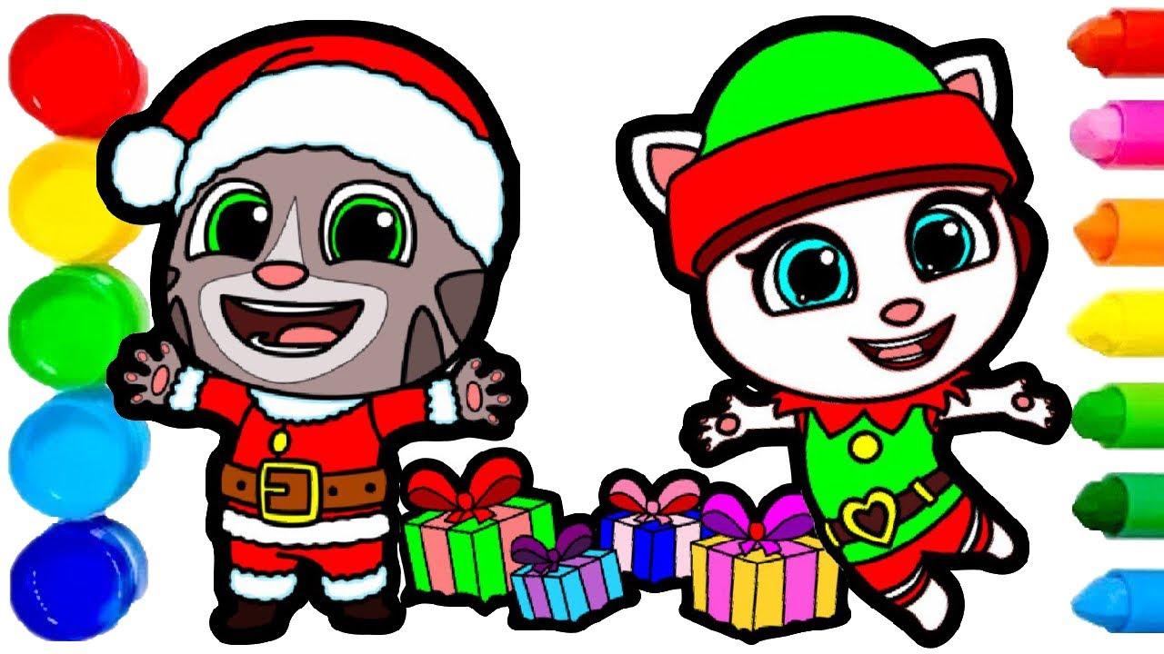 Merry Christmas | How to Draw Santa Tom and Elf Angela
