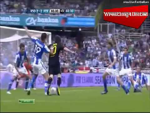 Lionel messi dive vs real sociedad 10 9 11 youtube for Cristiano ronaldo dive
