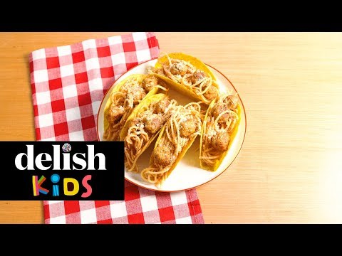 Jennie James - Spaghetti & Meatball Tacos