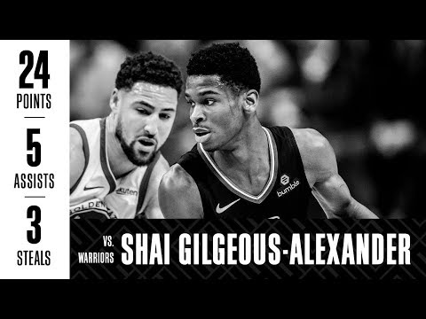 Shai Gilgeous-Alexander Ties Career-High with 24 Points vs. Warriors | 1/18