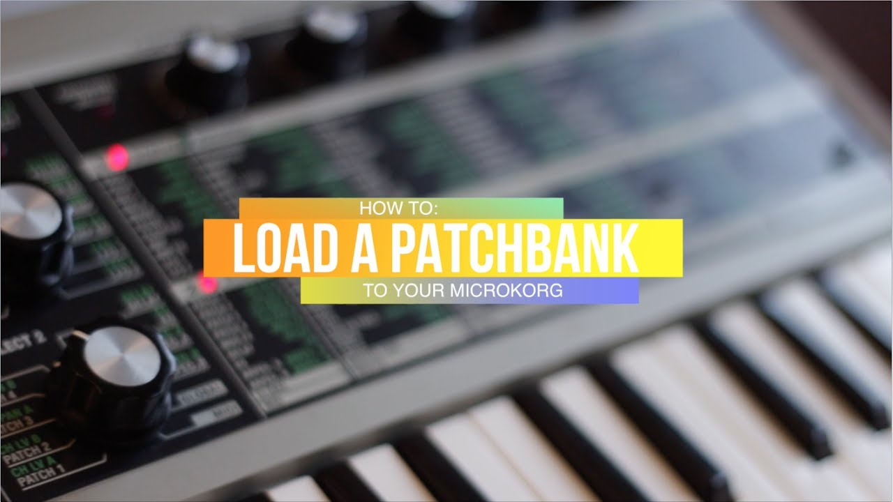 microKORG SoundEditor - How to import or load patches / patchbank