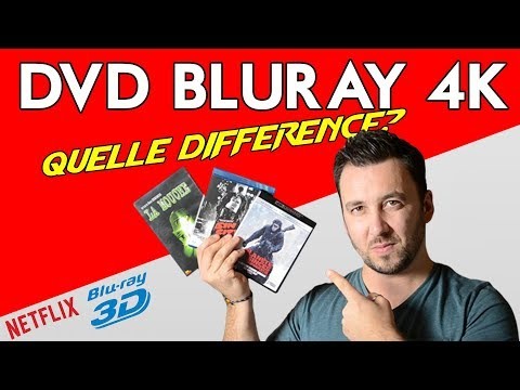 DVD, BLURAY, 4K: Quelle différence?