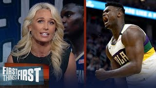Zion Williamson will continue to be dominant at any weight — Sarah Kustok | NBA | FIRST THINGS FIRST