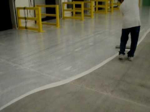 Steel Trowel Epoxy Coating On Concrete Surface Youtube
