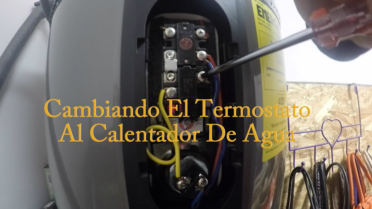 Cambiando el termostato al calentador de agua youtube for Termostato agua