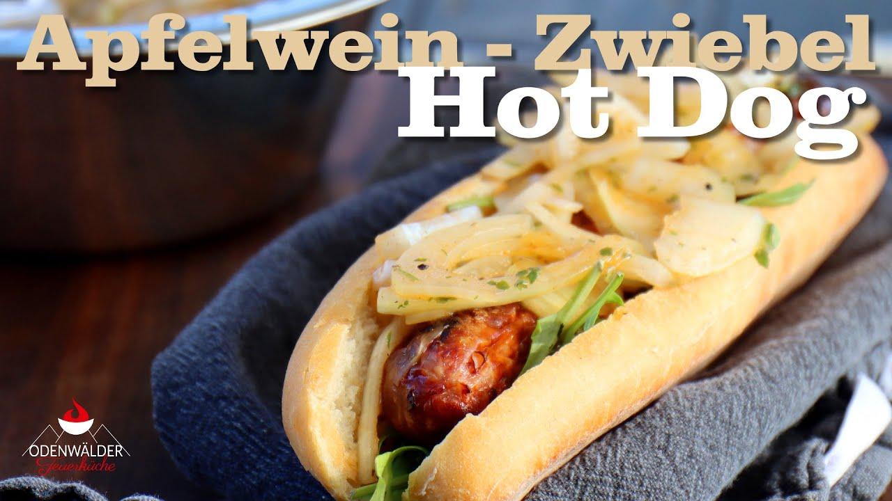 Apfelwein Zwiebel Hot Dog -  Äppler trifft Bratwurst