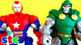 Super Hero Mashers Iron Patriot, Dr Doom y Iceman en este video pre...