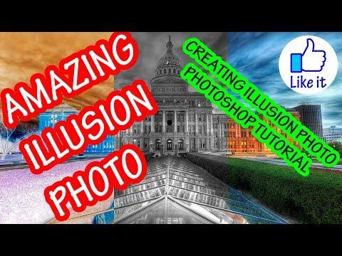 AMAZING ILLUSION PHOTO | PHOTOSHOP TUTORIAL | HOW TO CREATE ILLUSION PHOTO thumbnail