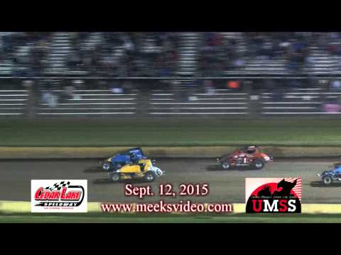 Sept. 12, 2015 UMSS Non Winged Sprints Cedar  Lake Speedway