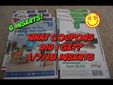 1/7/18 WHAT COUPONS DID I GET??? |  WOWZA....6 INSERTS  😎
