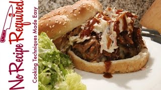 Tennessee Titans Pulled Pork Bbq Burger - Noreciperequired.com