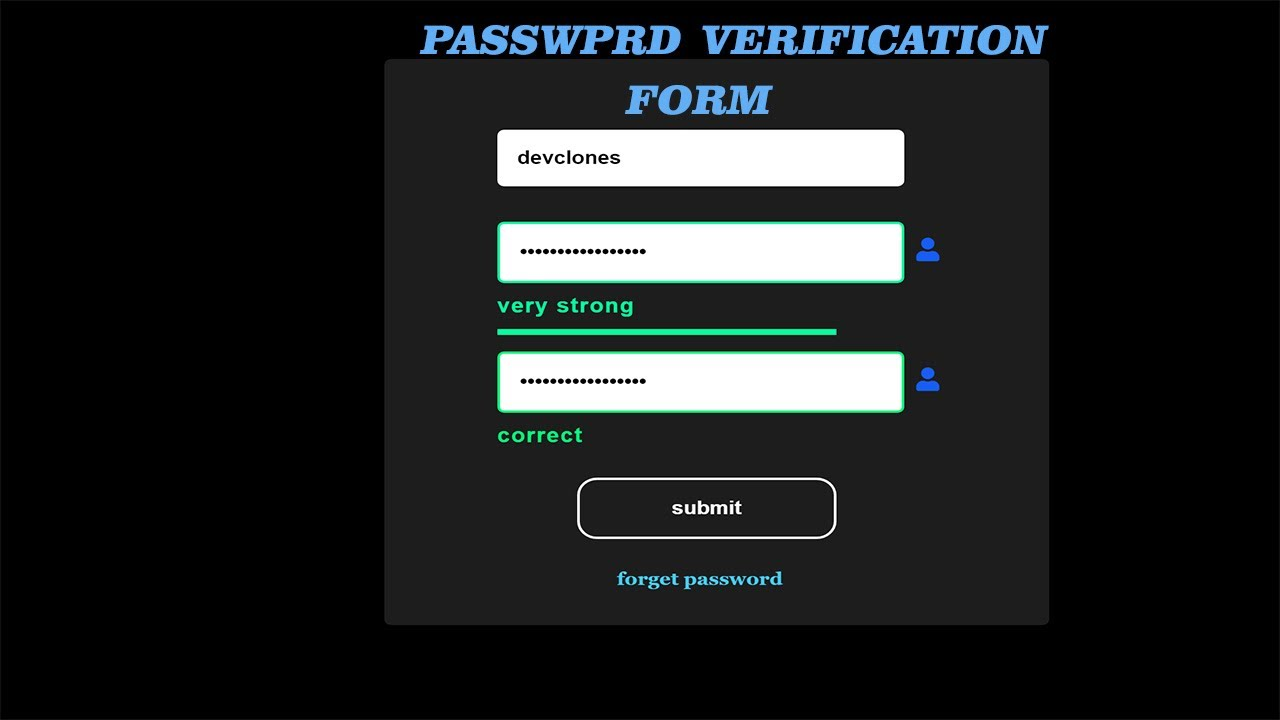 create a form using html css and javascript