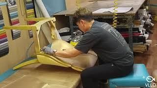 식탁의자천갈이 과정 영상/ 식탁의자리폼비용 알아보기