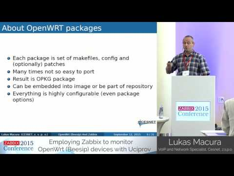 Lukas Macura - Monitor OpenWrt (Beesip) devices with Uciprov | Zabbix Conference 2015