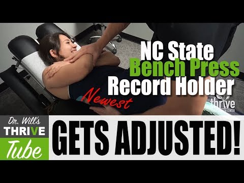 NC State Bench Press Record Holder Gets Adjusted by Charlotte Chiropractor Dr. Will Mosbey