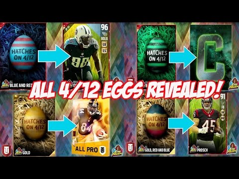 4/12 EGGS REVEALED! BRIAN ORAKPO, DEMARYIUS THOMAS AND MORE! | MADDEN 17 ULTIMATE TEAM