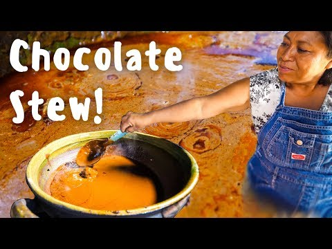 Oaxacan Mole Negro - THE MOST MYSTERIOUS Mexican Food in Oaxaca Village, Mexico!