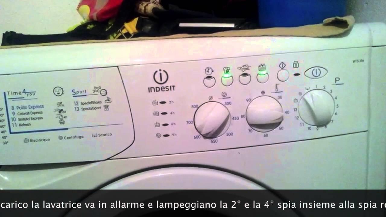 Lavatrici Ariston - Hotpoint - Indesit. Errore F05 - YouTube