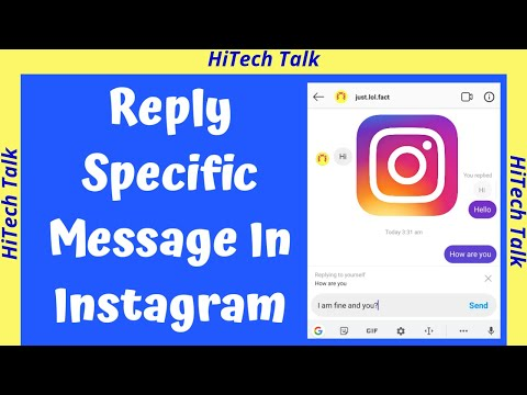 How To Reply A Specific Message In Instagram | instagram message swipe reply