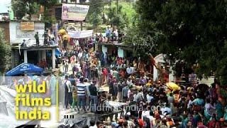 Pilgrims gather for Nanda Devi Raj Jat Yatra - India