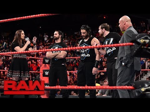 Stephanie McMahon questions Kurt Angle's leadership: Raw, Nov. 13, 2017