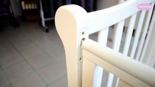 видео Купить Детская кроватка ВЕРЕС Соня ЛД-12 (слоновая кость) маятник с ящиком от производителя по лучшей цене в Киевской области от Интернет-магазина