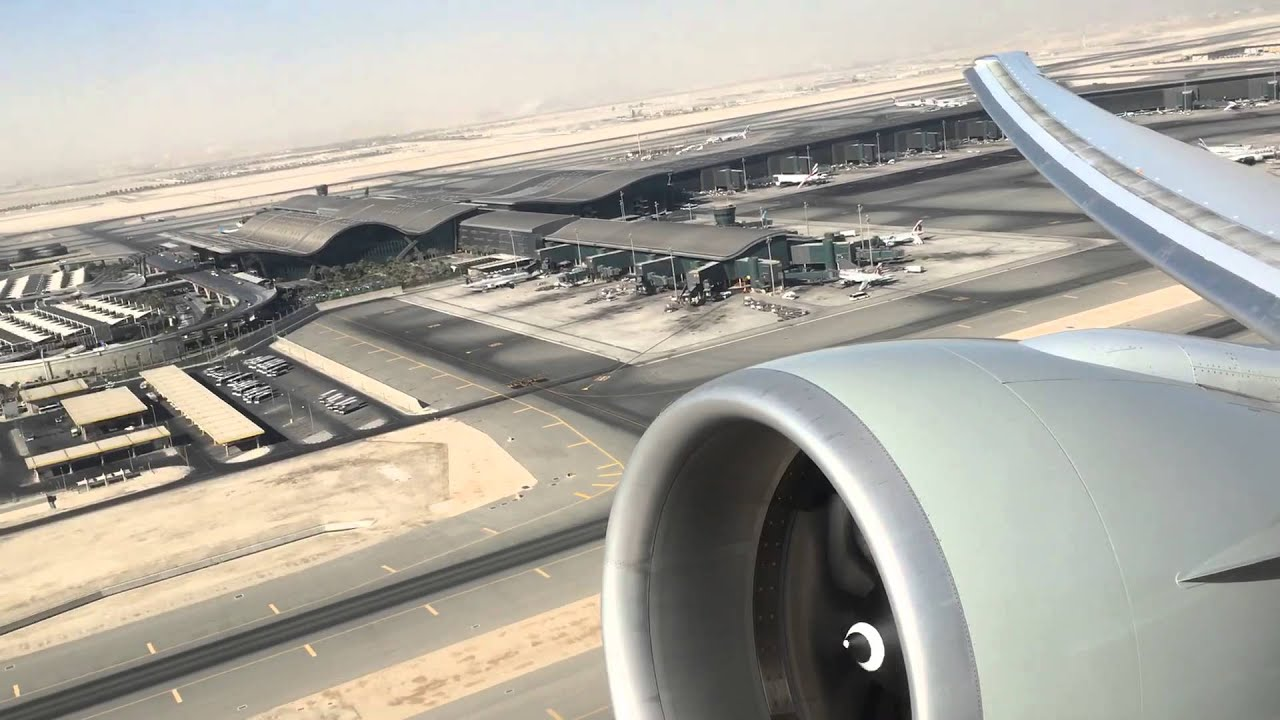 Aeroporto Hamad : Departing doha hamad international airport on a qatar