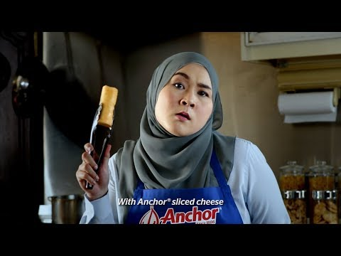 Anchor Twist: Popia Pisang Goreng Keju Anchor