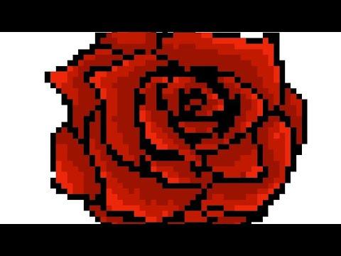 Comment Dessiner Une Rose En Pixel Youtube