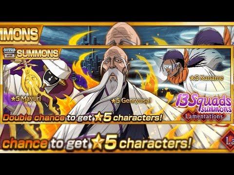 Bleach Brave Souls: Lamentations Summons: Tousen, Yamamoto e Mayuri + 30 Milhões de Downloads Omega Play