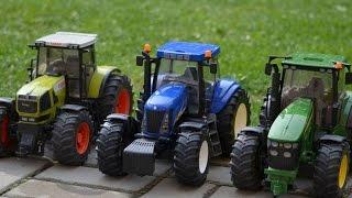 Bruder Tractors Claas New Holland John Deere   traktor, ciągnik, tracteur, трактор,