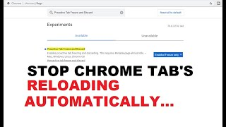 How To Stop Google Chrome Tabs From Automatically Refreshing/Reloading | Easily