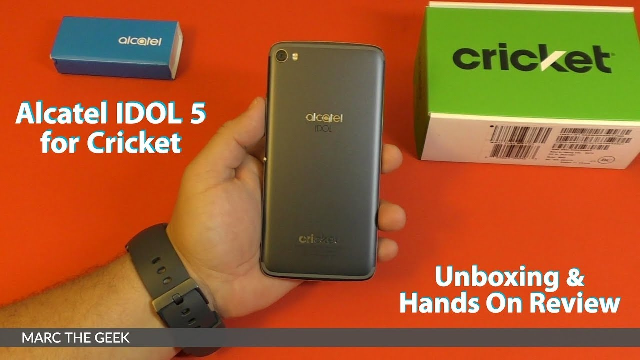 Alcatel IDOL 5 for Cricket Unboxing & Hands On Review