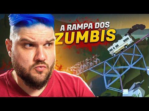 Fiz Uma RAMPA pra Atropelar Zumbis   Bridge Constructor: The Walking Dead  