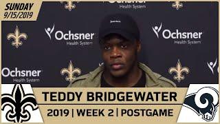 Teddy Bridgewater Postgame Reactions After Saints-Rams in Week 2 | 2019 NFL | New Orleans Saints