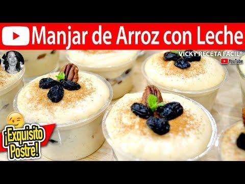 Manjar De Arroz Vicky Receta Facil Youtube