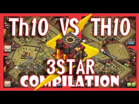 COMPILATION 3 STAR TH10 ATTACK STRATEGY (CLAN WAR)