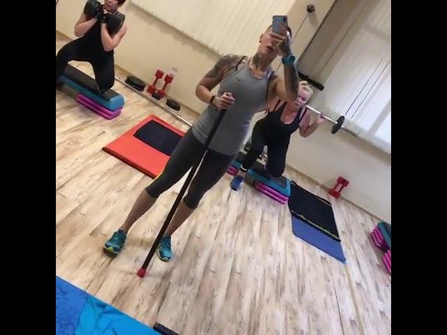 Занятие с фитнес-тренером
