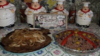 Bistec de res ,congry aqui te trae cary rica comida cubana para ti,sigueme