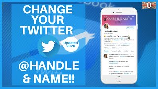 How To Change Your Twitter Display Name & @ Handle