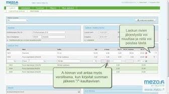 Ilmainen laskutusohjelma Mezo.fi Myyntilaskut
