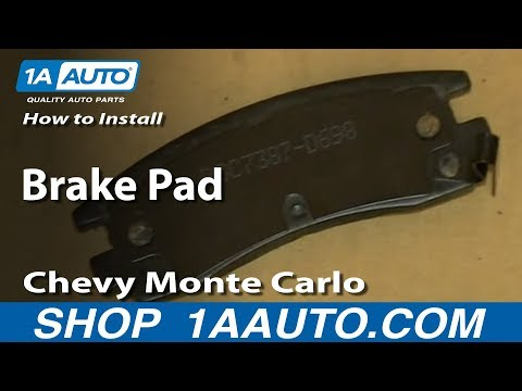 How To Install Rear Brake Pads 2000-07 Chevy Monte Carlo - 1A Auto Parts  - yskfWuDemVo -