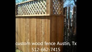 Custom Wood Fence Austin Tx 512-949-8943