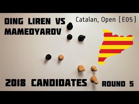 Ding Liren plays the open Catalan against Mamedyarov ⎸2018 Candidates, Round 5