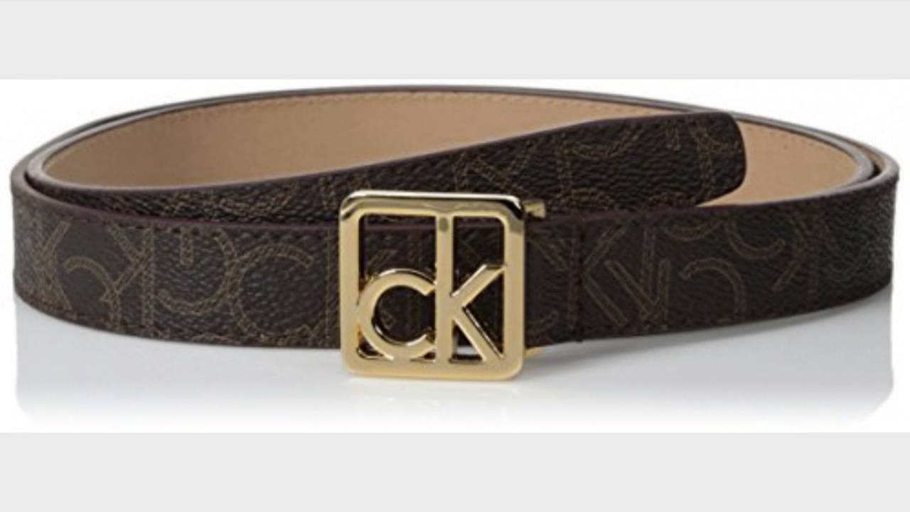 Calvin Klein Women s Logo Belt with Plaque Buckle, Chocolate, Medium -  YouTube d4a454ad2f6
