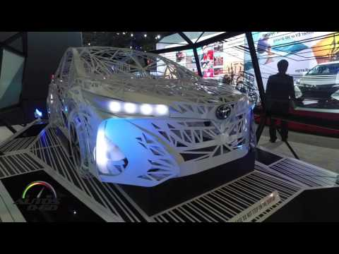 2017 toyota prius prime technology display at the new york auto show