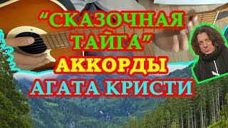 Аккорды Агата Кристи Сказочная тайга | разбор на гитаре | видео урок